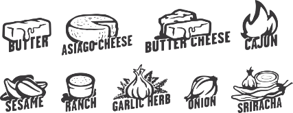 flavored crust icons