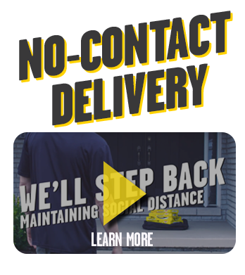 No contact delivery. We'll step back maintaining social distance. Learn more