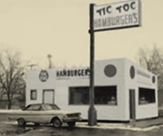 Image of a Small White Diner from the mid 1960s.