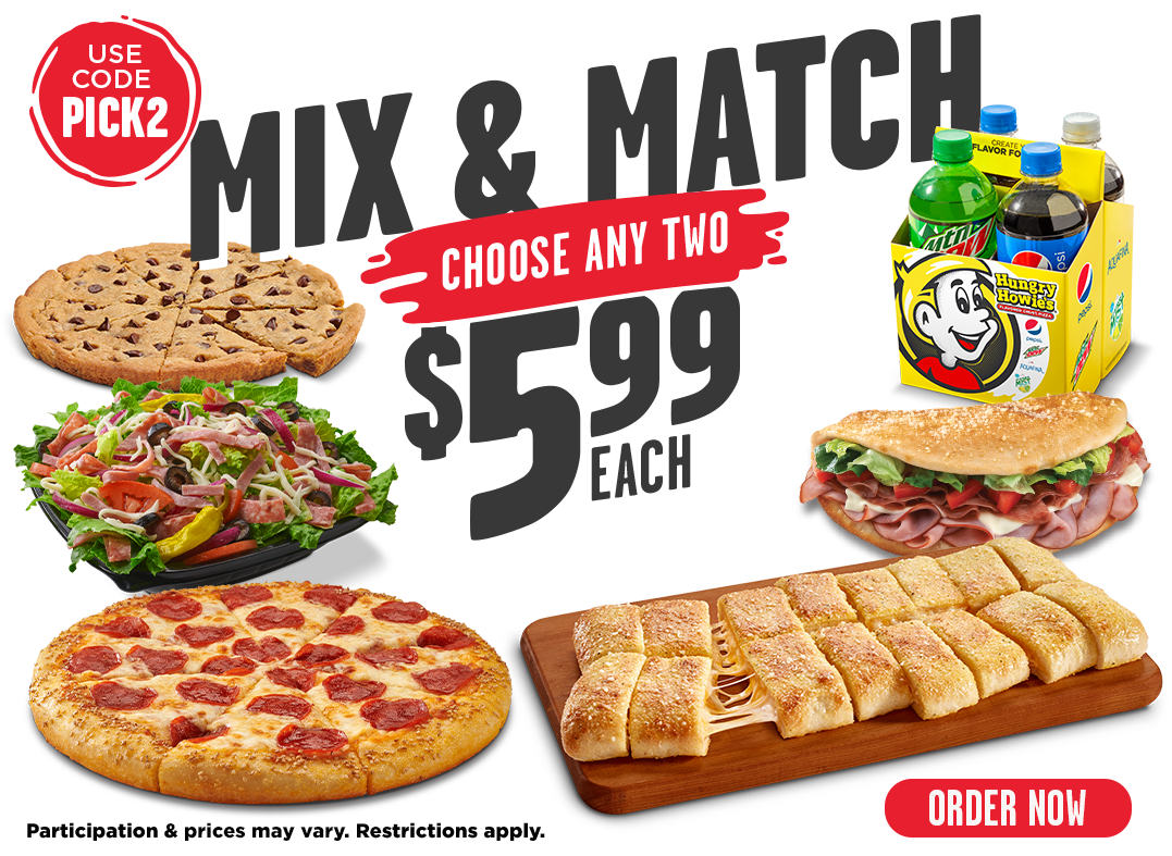 Mix & Match. Pick any 2 for $5.99 each