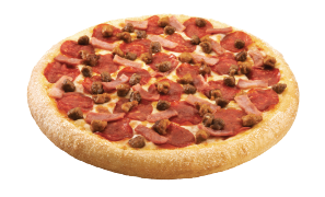 Meat Pizza- Pepperoni, ham, Italian sausage, ground beef