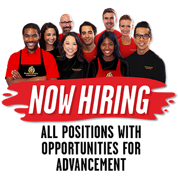 Now hiring all positions with opportunities for advancement